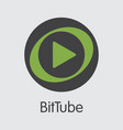 bittube crypto currency coin web icon of vector image vector image