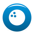 bowling icon blue vector image