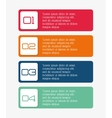 Business infographic design vector image vector image