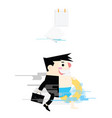 businessmen going to sea vector image vector image