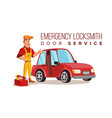 car locksmith worker service classic vector image vector image