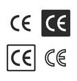 ce mark symbol set vector image vector image