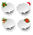 christmas speech bubble set white background vector image vector image