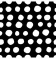 circles seamless pattern retro hand drawn circles vector image