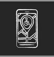 city navigation app chalk white icon on black vector image