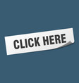 click here sticker here square isolated vector image vector image