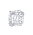 coding web design app development line icon vector image