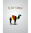 Colored Logo Camel vector image