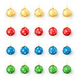 colorful christmas balls set realistic set vector image