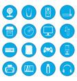 computer icon blue vector image vector image