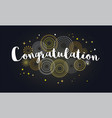 congrats congratulations banner with glitter vector image vector image