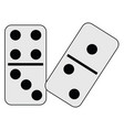 couple dominoes vector image