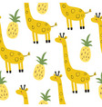 cute print with giraffe vector image