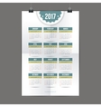 Design for calendar 2017 English or American vector image