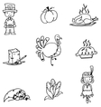 Element Thanksgiving in doodle vector image vector image