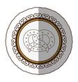 emblem silhouette pretzel bread icon vector image vector image