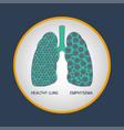 emphysema logo icon vector image vector image