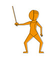 female fencing athlete sport avatar icon image vector image vector image