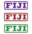 fiji watermark stamp vector image
