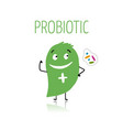 funny and scary bacteria characters isolated vector image vector image