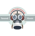 Gas mask logo vector image vector image