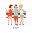 gossiping girls design vector image