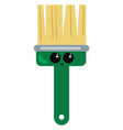 green brush on white background vector image vector image