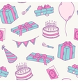 Hand drawn birthday party seamless pattern vector image vector image