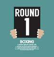 Hand Show Boxing Ring Board vector image