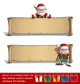 Happy Santas Papyrus Presenting Presents Set vector image vector image