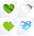 Hearts In Different Kinds vector image vector image