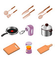 kitchen workplace flat design vector image