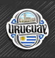 logo for uruguay vector image
