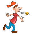 man with a big nose playing baseball vector image vector image