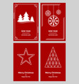 merry christmas and new year greeting card vector image vector image