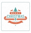 Merry Christmas holidays wish greeting card vector image