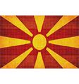 Mosaic flag of Macedonia vector image vector image