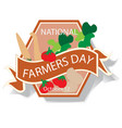 national farmers day sign and badge vector image vector image