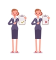 Office workers with clipboards vector image vector image
