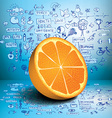 Orange business and healthy infographics vector image vector image