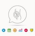pregnancy icon medical genecology sign vector image vector image