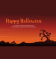 scary landscape halloween of silhouettes vector image vector image