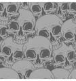 Seamless horror grey skull tattoo pattern vector image vector image