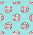 seamless pattern with lifebuoy vector image vector image