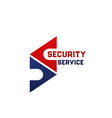 security service icon company branding template vector image vector image