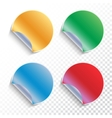 set curled sticky stickers vector image