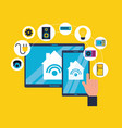 smart home related vector image