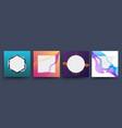 social media square template post banner web vector image