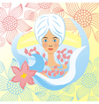 Spa floral background vector image vector image