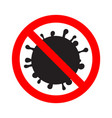 stop virus prohibition sign infection protect vector image